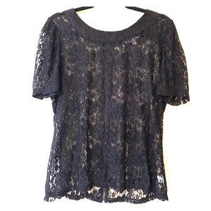 Black Lace Top NY Collection XL